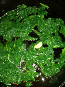 turnip greens sauteed with garlic