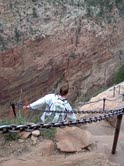 Beth going down from Angel's Landing