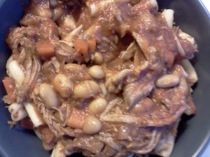 ragu with pork ribs and white beans
