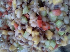 black eyed pea salad with mango